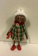 Karen Friedstrom Christmas-Polka, owl ornament