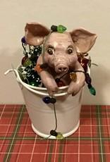 Karen Friedstrom Christmas-Bella pig ornament