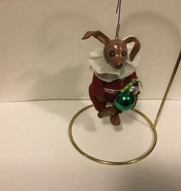 Karen Friedstrom Christmas-Potter bunny ornament