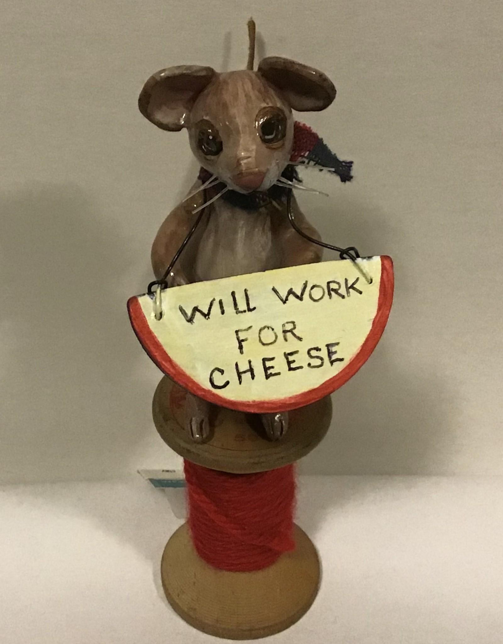 Karen Friedstrom Christmas-Penelope mouse ornament