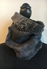 Ammi Brooks Black and White Cowl Scarf 1