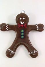 Ann Mackiernan Gingerbread Man Fused Glass Ornament