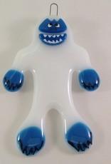 Ann Mackiernan Rudolph's Abominable Snowman Fused Glass Ornament
