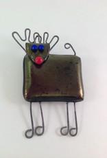 Ann Mackiernan Reindeer Fused Glass Ornament