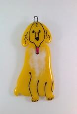 Ann Mackiernan Man's Best Friend Fused Glass Ornament