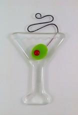 Ann Mackiernan Martini Fused Glass Ornament