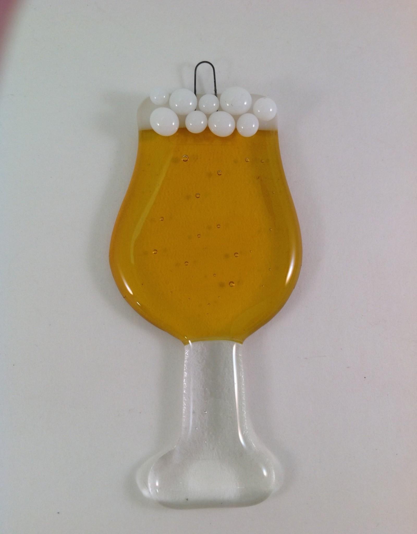 Ann Mackiernan Beer Fused Glass Ornament