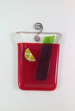 Ann Mackiernan Bloody Mary Fused Glass Ornament