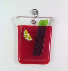 Ann Mackiernan Bloody Mary Fused Glass Ornament