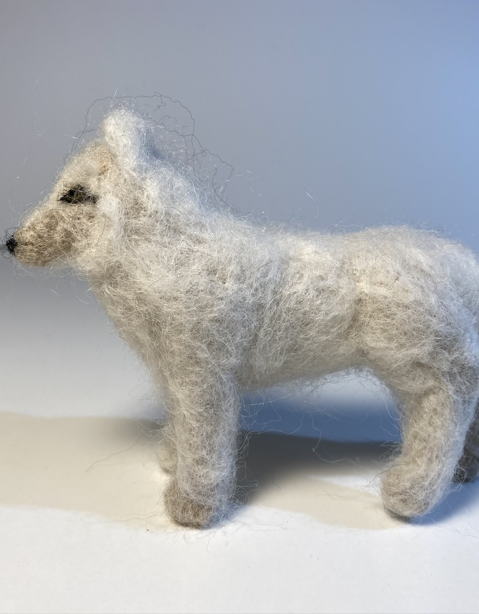 Jennifer Cook-Chrysos Chrysos Designs Artworks, felted wolf 1, small