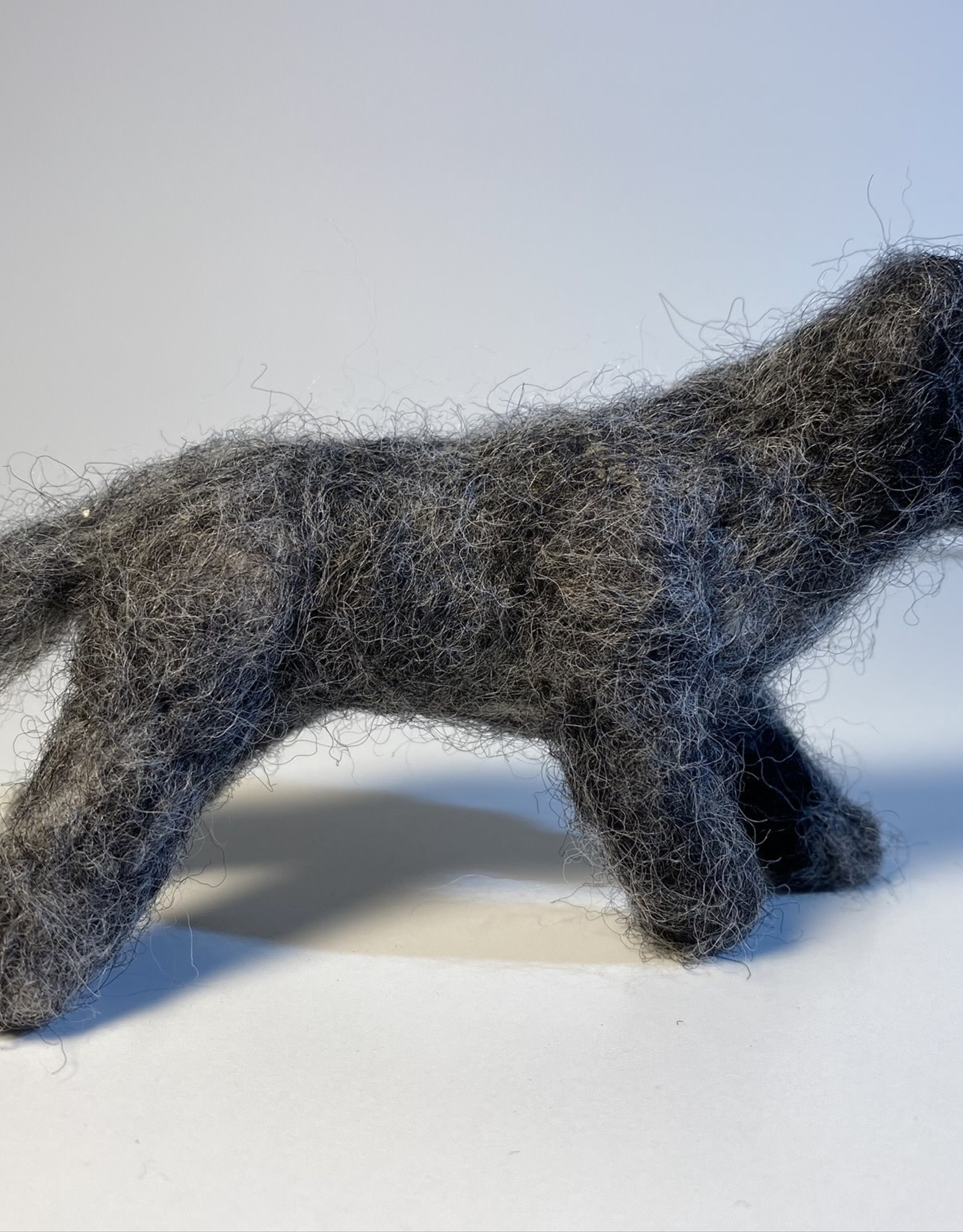 Jennifer Cook-Chrysos Chrysos Designs Artworks, felted wolf 2, small