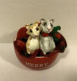 Karen Friedstrom Christmas-Friends cat decor