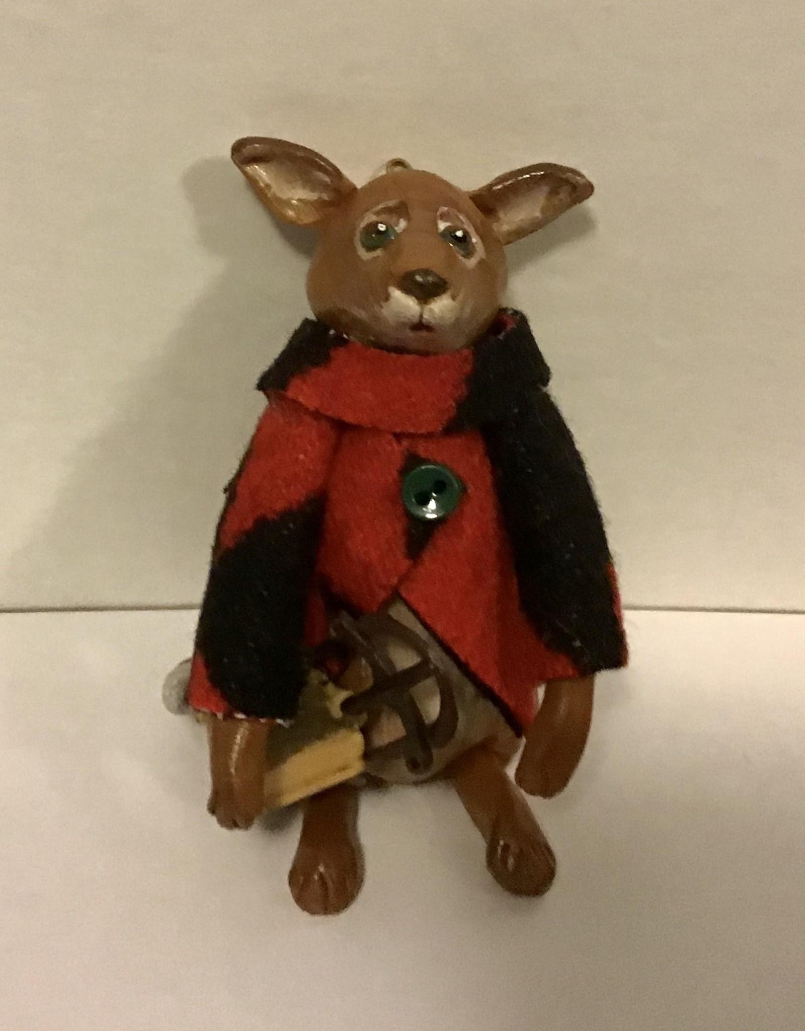 Karen Friedstrom Reggie, fox ornament