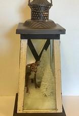 Karen Friedstrom Winter Wonderland lantern, deer
