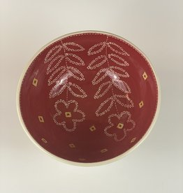 Anshula Tayal Amaati serving bowl red Bandhani