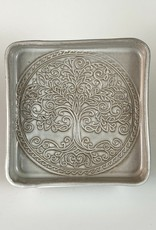Anshula Tayal Amaati square plate (tree of life)