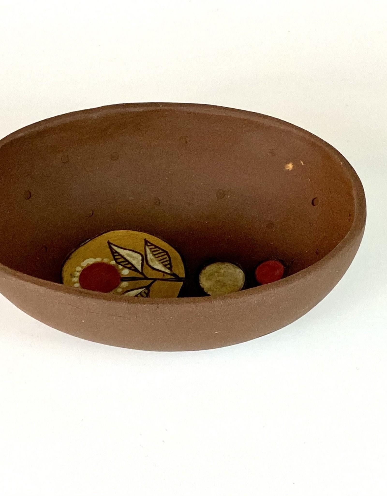 Anshula Tayal Amaati small oval bowl (red dot design)