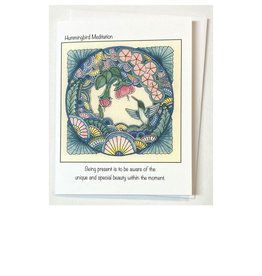 Kelly Casperson Hummingbird Meditation card