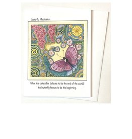 Kelly Casperson Butterfly Meditation card