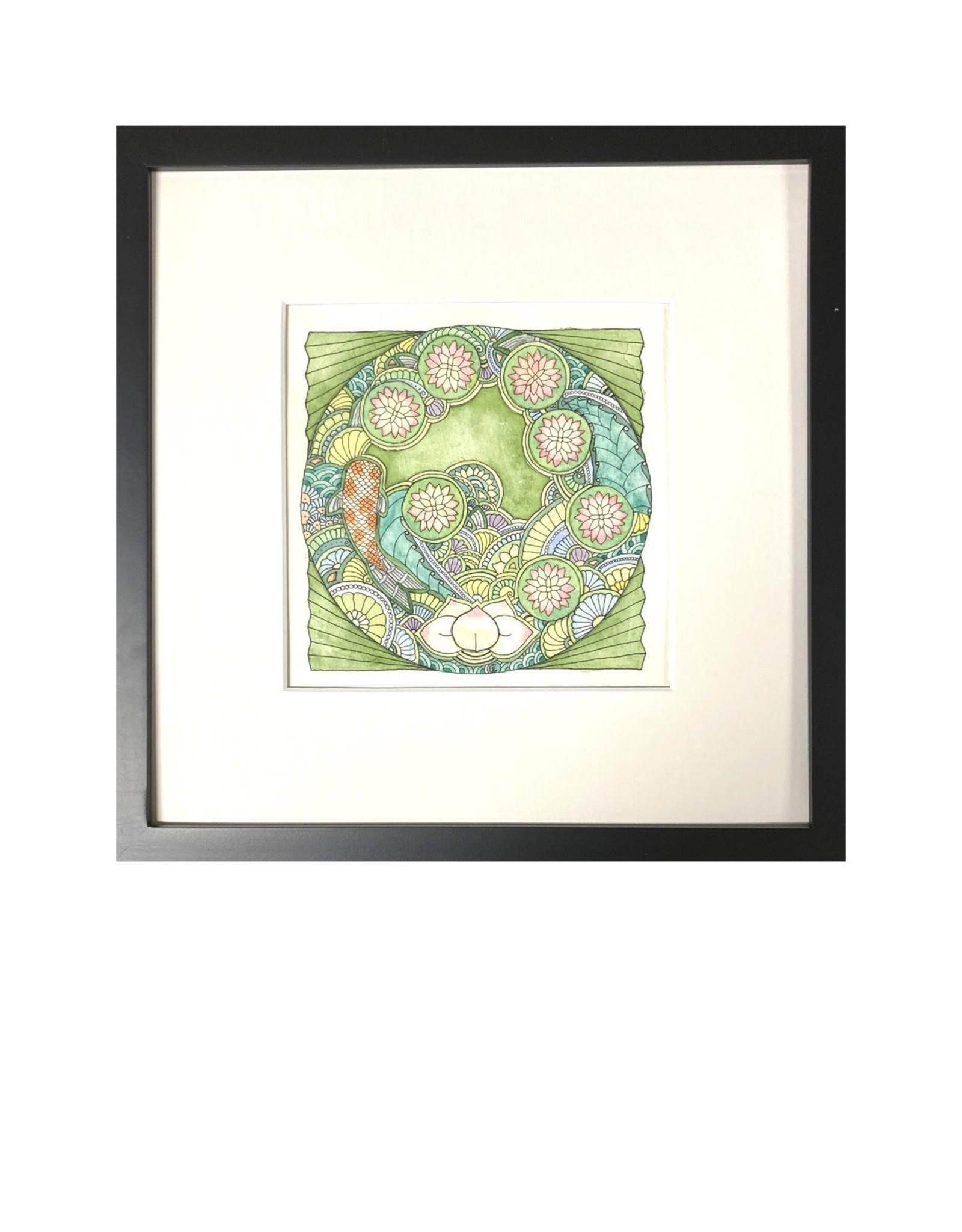 Kelly Casperson Koi Meditation framed original