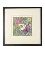 Kelly Casperson Butterfly Meditation framed original