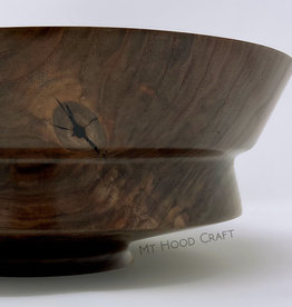 "Mt. Hood Craft - ""Black Star"" - Hand Turned Black Walnut Bowl"