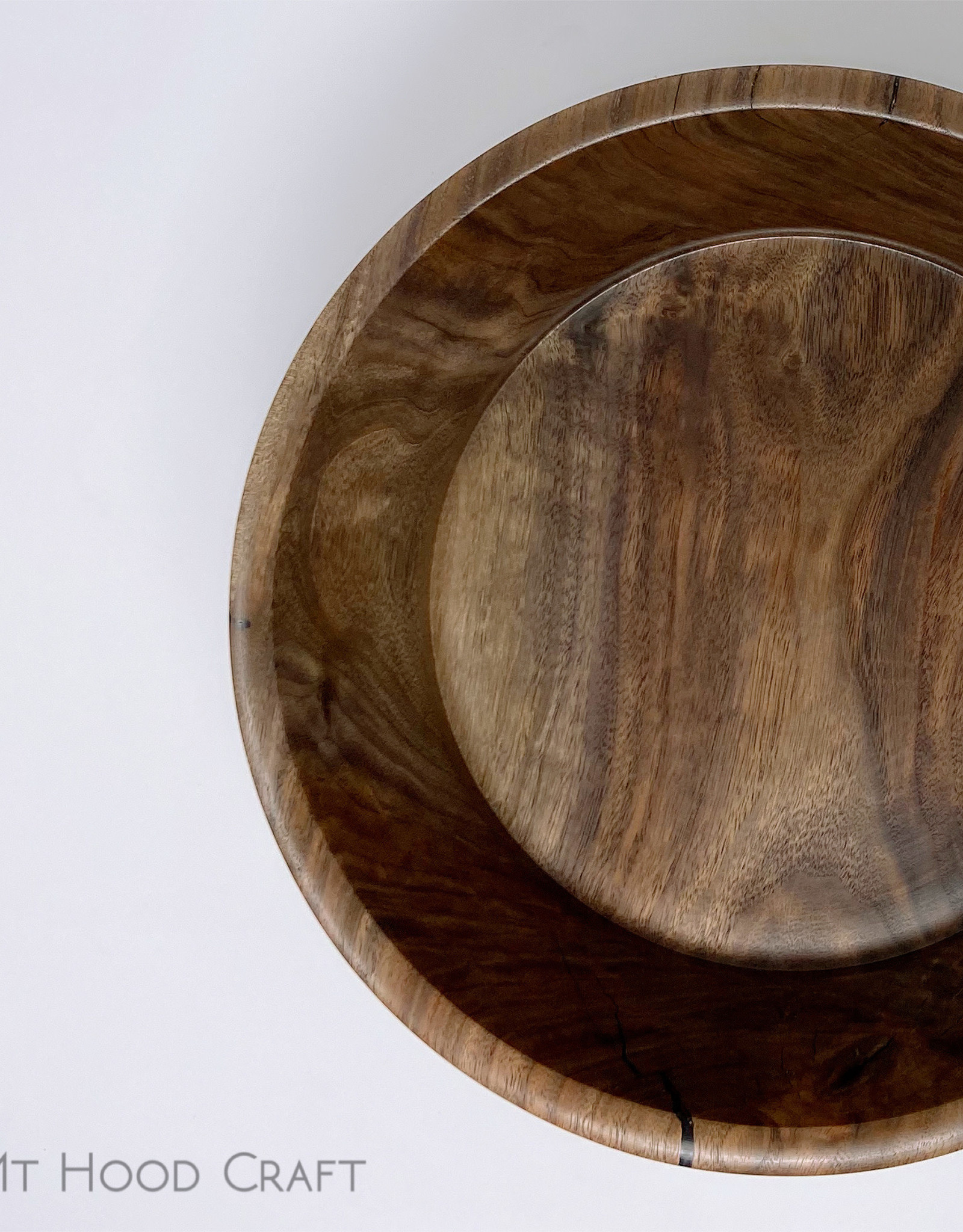"Mt. Hood Craft - ""Black Star"" - Hand Turned Black Walnut Bowl"