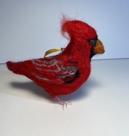 Jennifer Cook-Chrysos Chrysos Designs Artworks, Felted Cardinal Ornament,  6 x 6 x 2.5 in.