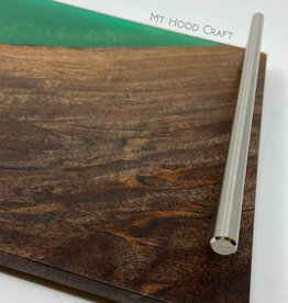 "Ron and Ellie Purvis Mt. Hood Craft - ""Emerald City"" - Wood and Resin Serving Tray"