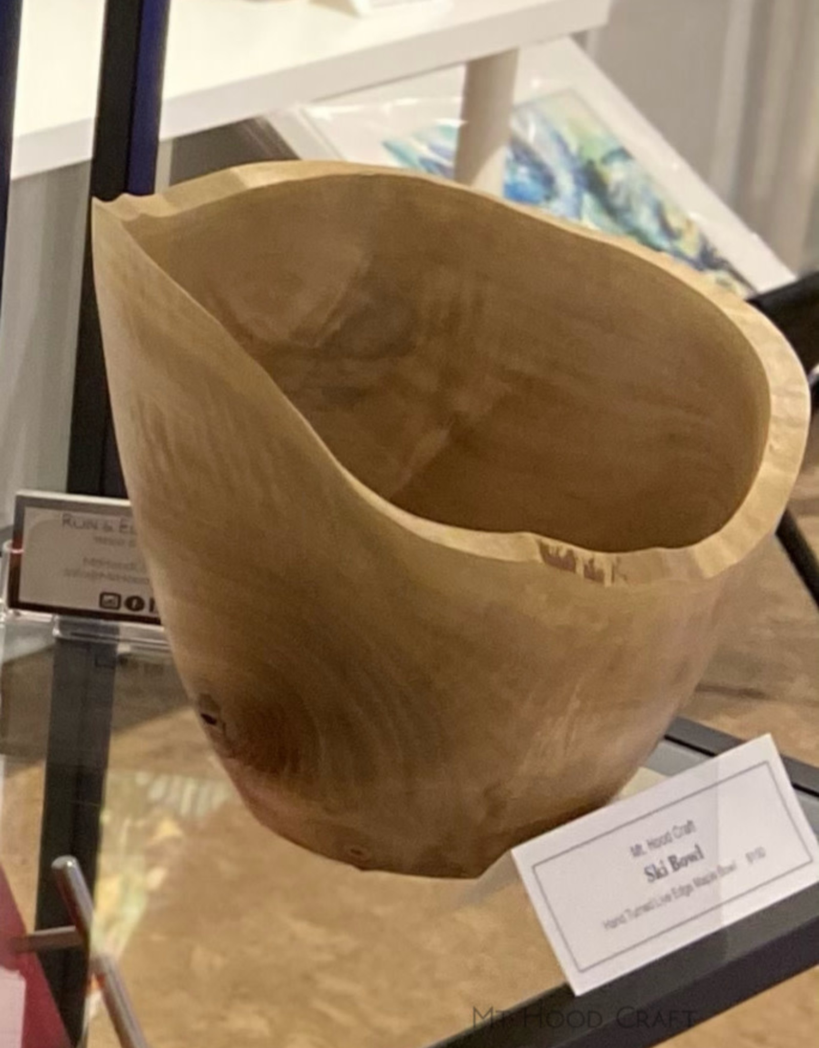"Mt. Hood Craft - ""Skibowl "" - Hand Turned Live Edge Maple Bowl"