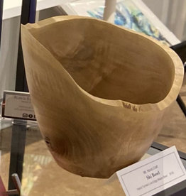"Ron and Ellie Purvis Mt. Hood Craft - ""Skibowl "" - Hand Turned Live Edge Maple Bowl"