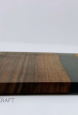 "Mt. Hood Craft - ""Black Cadillac"" - Wood and Resin Serving Tray"