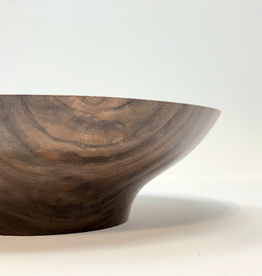 "Mt. Hood Craft - ""Simple Beautifully"" - Hand Turned Black Walnut Wood Bowl"