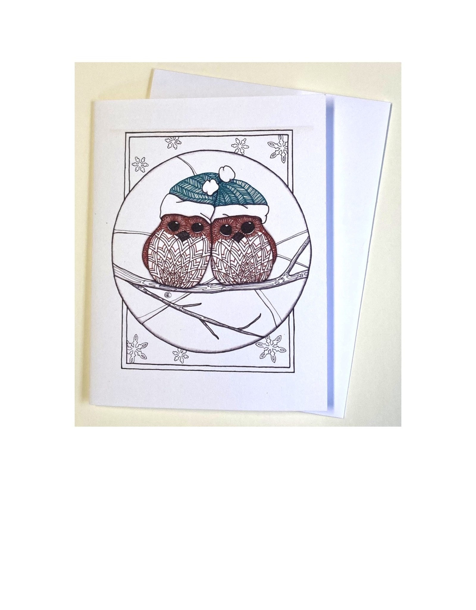Kelly Casperson Owls notecard