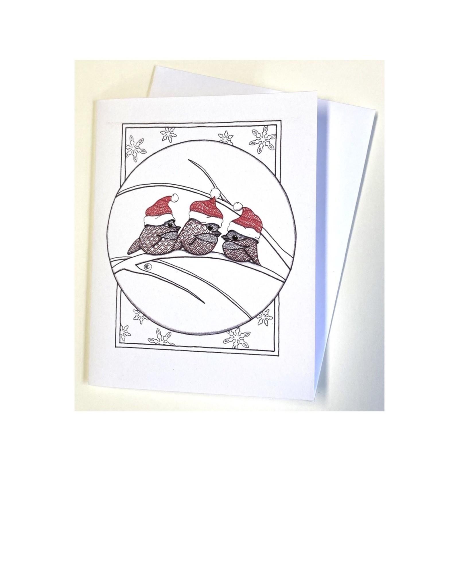 Kelly Casperson Chickadees notecard
