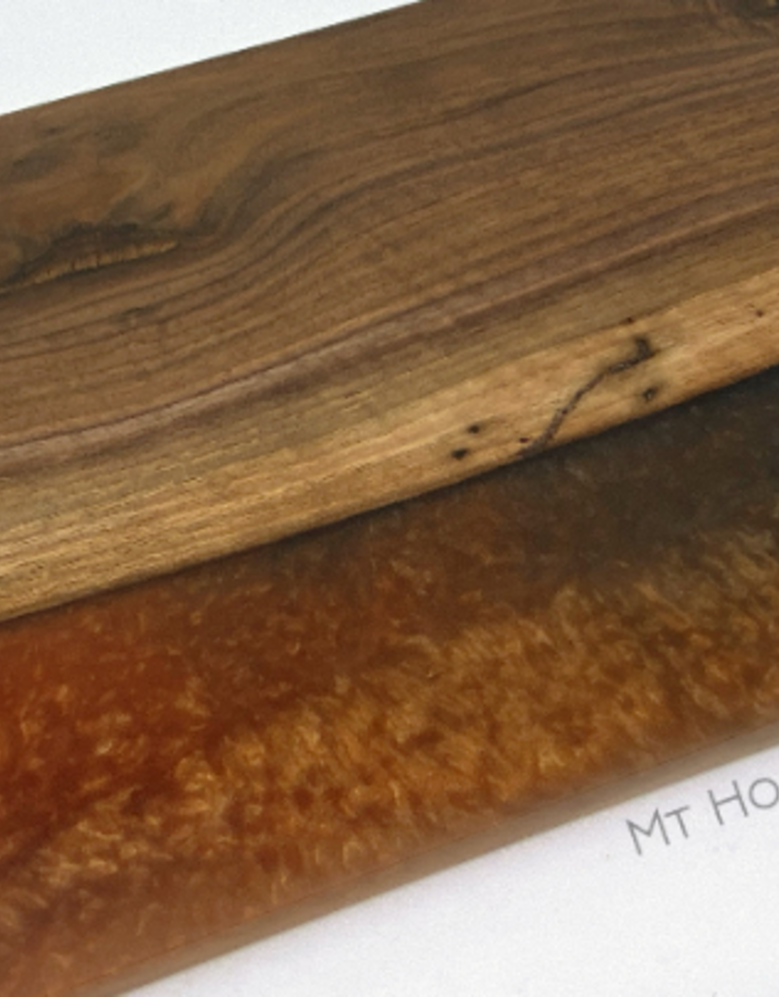 """Mt. Hood Craft - """"Navy Haze"""" - Wood and Resin Serving Tray"""
