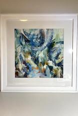 Jennifer Cook-Chrysos Chrysos Designs Artworks, framed print, 16x16, Up the Waterfall