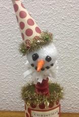 Karen Friedstrom Christmas-Poppy snowman