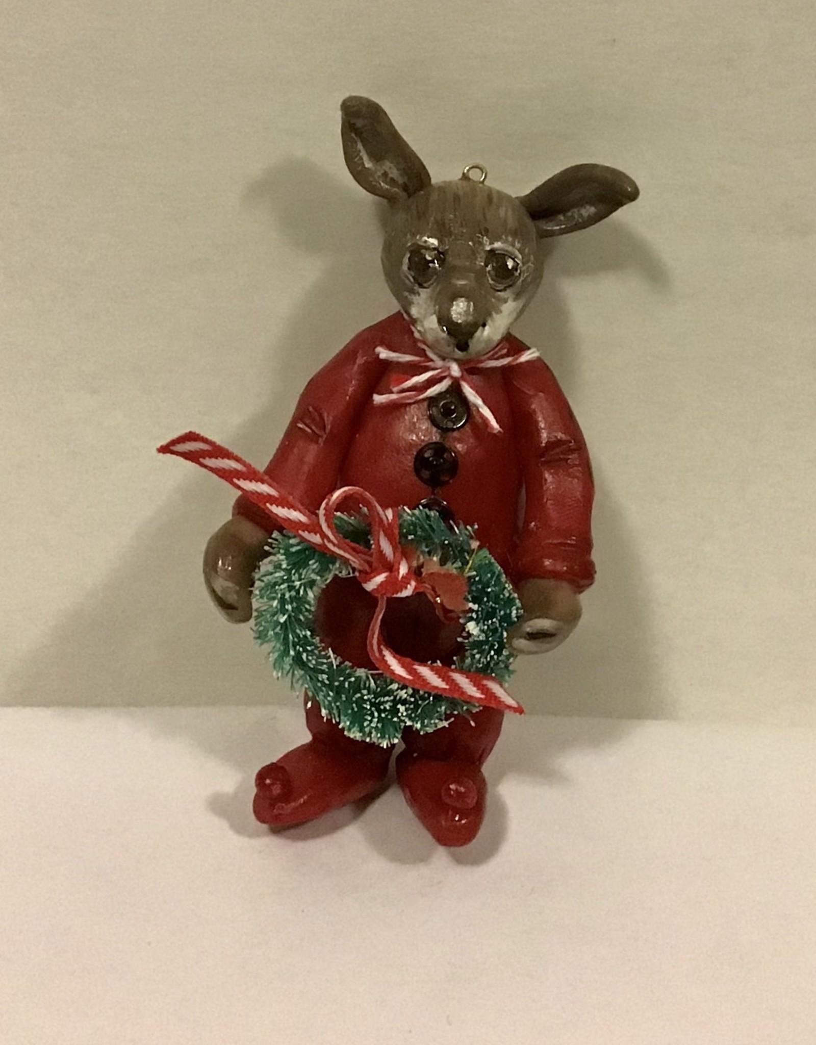 Karen Friedstrom Christmas-Potter bunny ornament