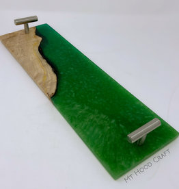 "Ron and Ellie Purvis Mt. Hood Craft - ""Emerald Sky"" - Wood and Resin Flight Tray"