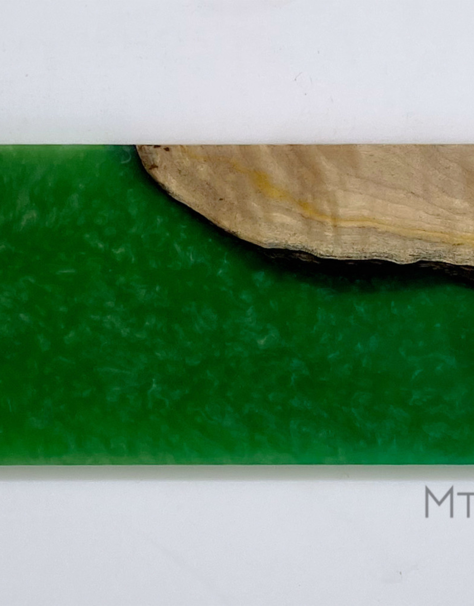 "Mt. Hood Craft - ""Emerald Sky"" - Wood and Resin Flight Tray"