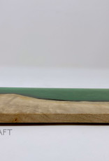 """Ron and Ellie Purvis Mt. Hood Craft - """"Emerald Sky"""" - Wood and Resin Flight Tray"""