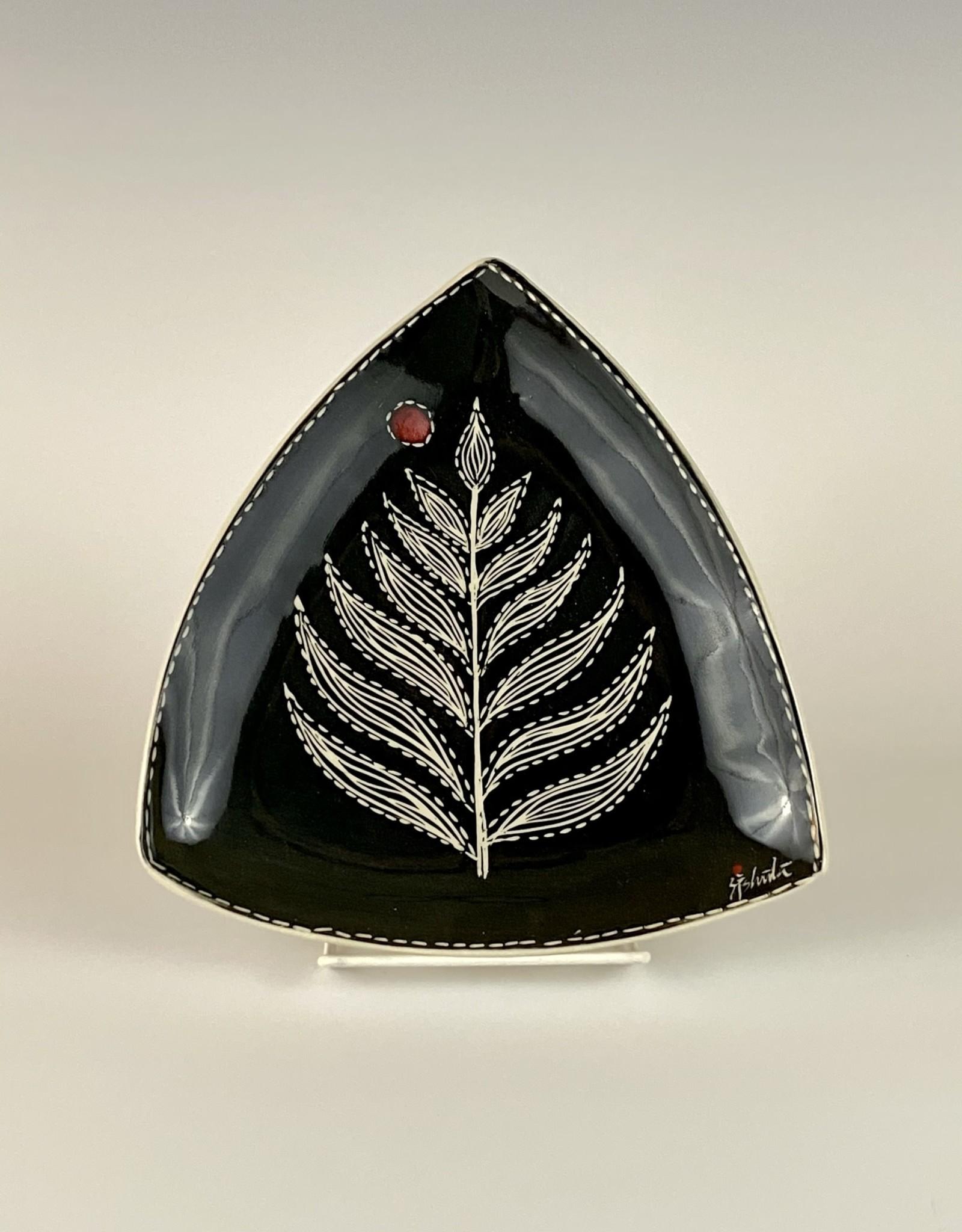 Anshula Tayal Amaati black Kantha triangle plate