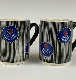 Anshula Tayal Amaati black and blue block print mug