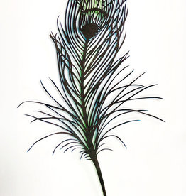 David Friedman Peacock Feather - Papercutting