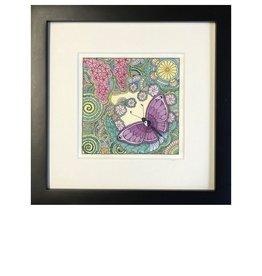 Kelly Casperson Butterfly Meditation framed print