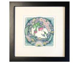 Kelly Casperson Hummingbird Meditation framed print