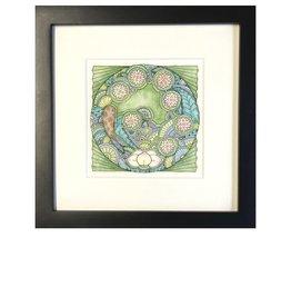 Kelly Casperson Koi Meditation framed print