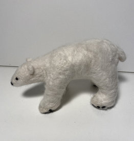 Jennifer Cook-Chrysos Chrysos Designs Artworks, Felted Polar Bear, 6 x 3.5 x 3 inches.