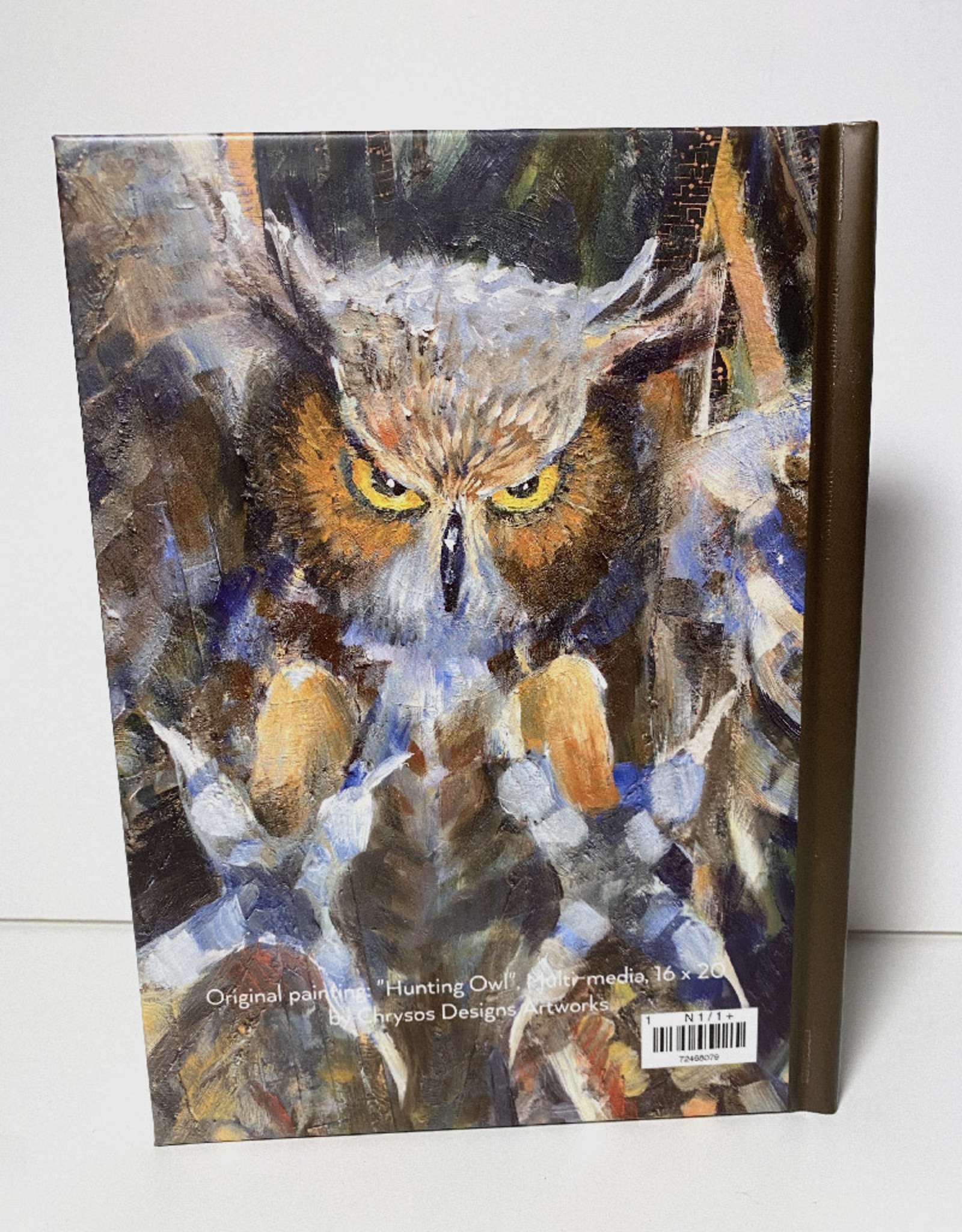 Jennifer Cook-Chrysos Chrysos Designs Artworks, hardcover journal, 6 x 8, owl